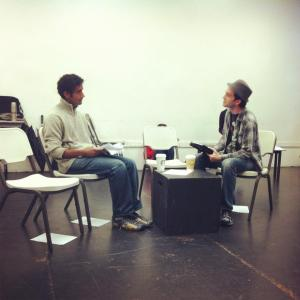 Karthik and Kyle, in rehearsal for our East West Players reading.